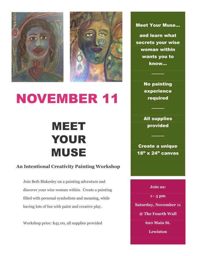 Meet Your Muse flyer for Fourth Wall-1